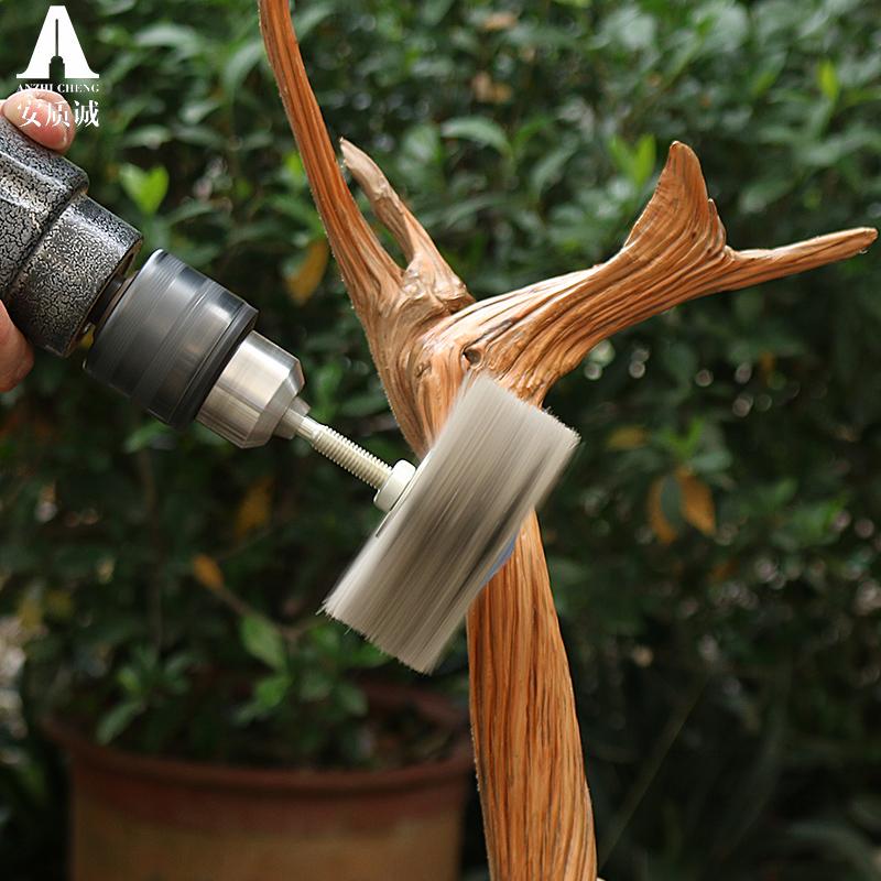 打磨花头尼龙磨料丝抛光刷木雕崖柏红木家具根雕抛光工具耐磨木工