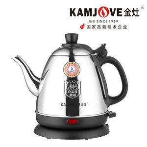 KAMJOVE/金灶 E-400 电水壶304不锈钢电热水壶全钢电茶壶烧水壶