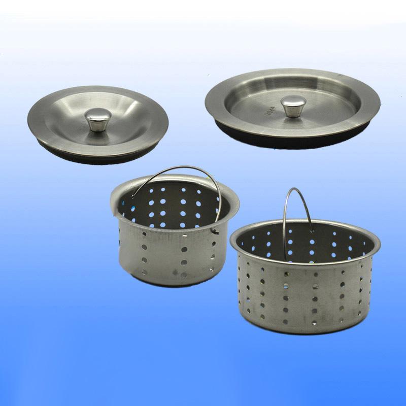 304不锈钢水槽盖子厨房洗菜盆下水器塞子单双水槽塞篮子配件提篮