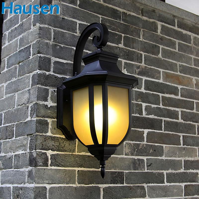皓森照明美式简约户外壁灯防水庭院灯复古壁灯阳台灯露台灯纯铝