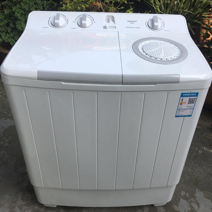 家用双桶缸大容量波轮洗衣机 10KG 8 半自动 100S XPb100 樱花 Sakura