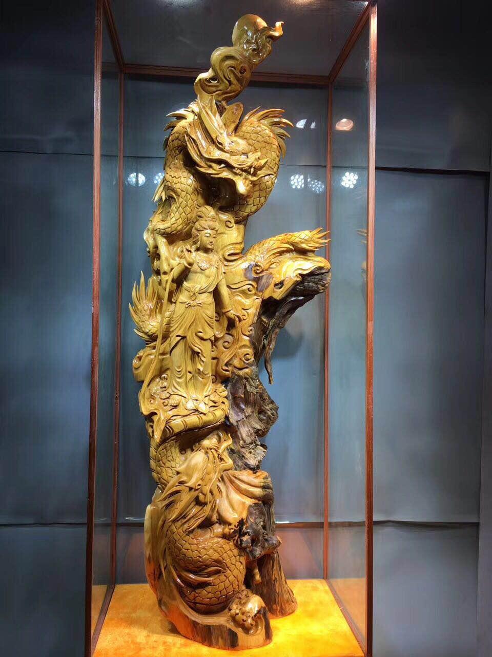 包邮太行崖柏雕刻根雕木雕工艺品观音寿星达摩家居装饰品客厅摆件