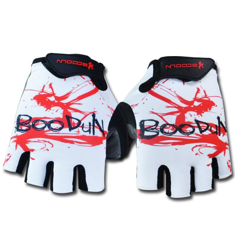 boodun夏季男女山地自行車手套透氣防晒手套單車裝備騎行手套半指