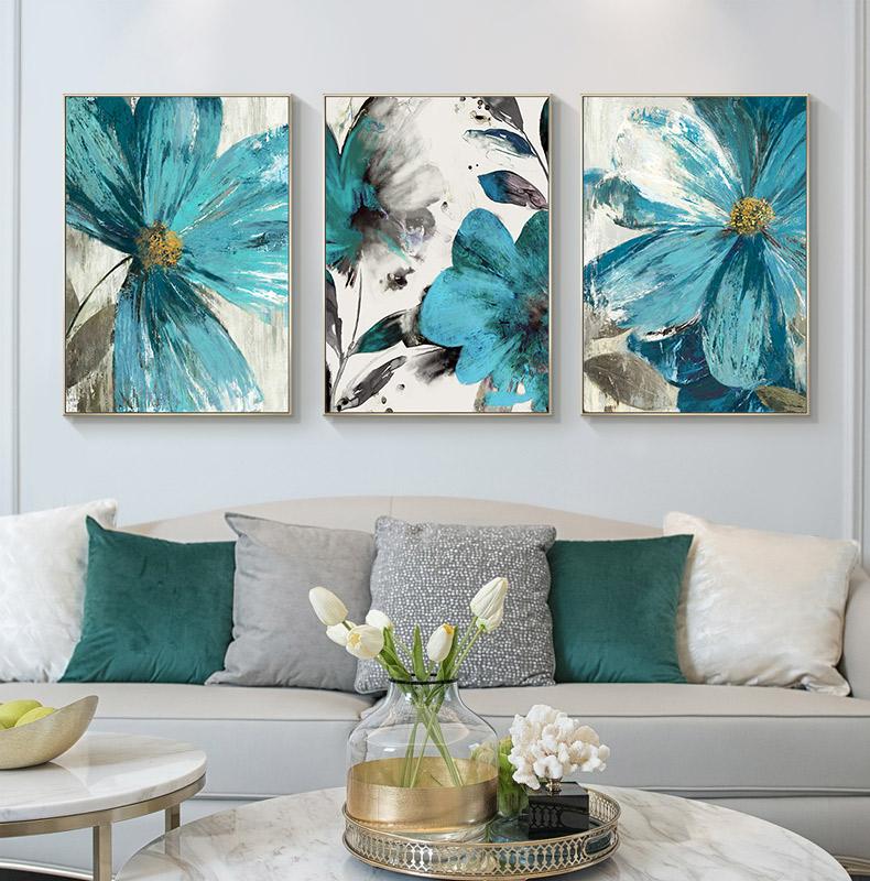 綻放花開手繪油畫臥室餐廳壁畫客廳沙發背景墻裝飾畫玄關走廊掛畫