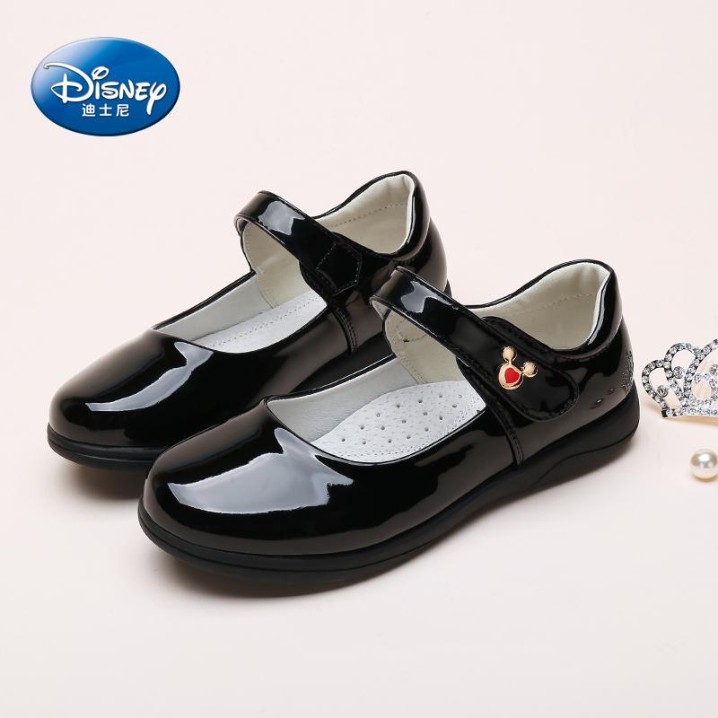 [淘寶網] 迪士尼童鞋 女童鞋春季2018新款女童皮鞋黑色公主鞋女學生表演鞋