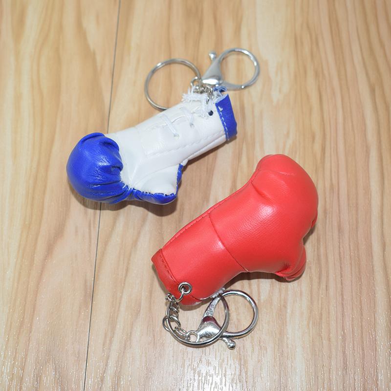 拳击手套钥匙扣迷你小手套包包挂件体育用品礼品赠送仿真拳套挂饰