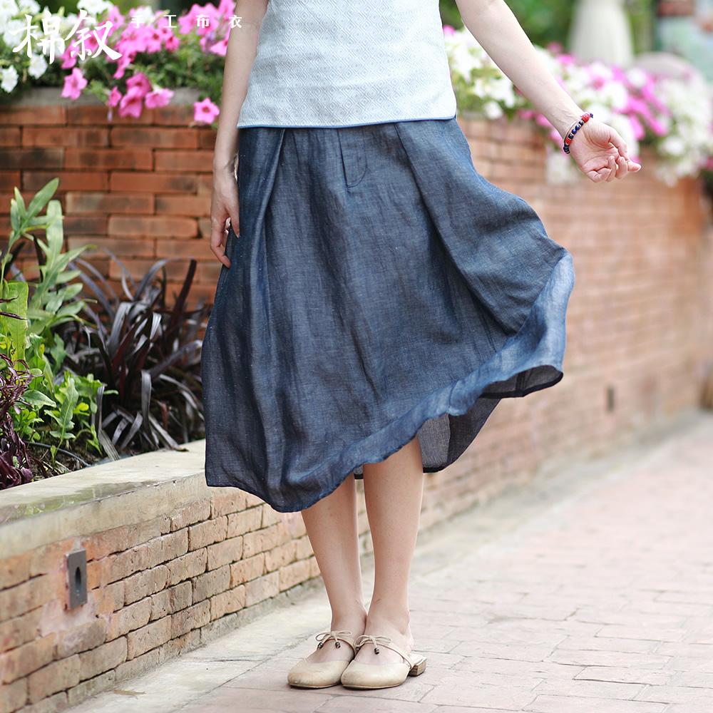 [淘寶網] 棉敘M7669 夏裝新款薄款牛仔裙A字裙簡約文藝半身裙百搭半裙女