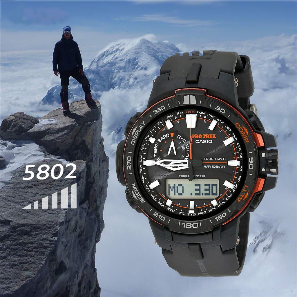 3 YB 6100YT 60Y 1A 1B 1 6600Y PRW 登山手表男表光能电波表 CASIO