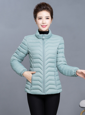2020年新款羽绒棉衣女短款轻薄棉服冬季中年人妈妈冬装外套小棉袄