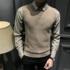 男士2019新款衬衫领假两件毛衣男休闲商务毛衫上衣潮流针织男装