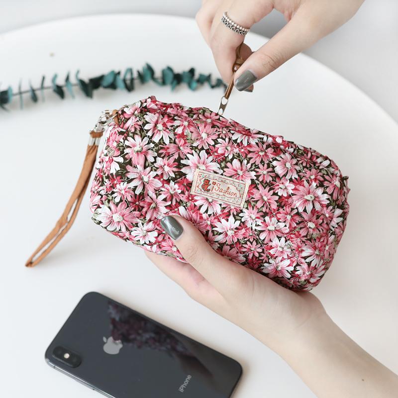 5.5寸大屏零錢包 蘋果iphone67splus夏韓版女式多功能布藝手機包