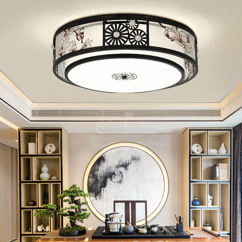 新款新中式灯具套餐吸顶灯全屋中国风中式客厅灯复古铁艺灯 2021