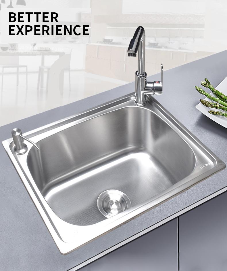 特价包邮 加厚加深大单槽洗菜盆洗碗池 不锈钢水槽单槽 304 欧旗