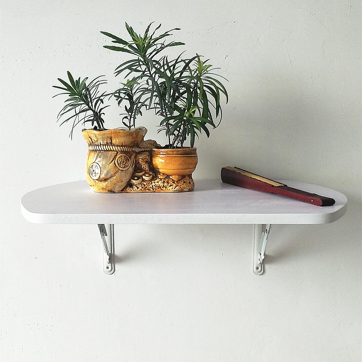 壁式笔记本电脑折叠餐桌搁板置物架连墙饭桌榻榻米室内厨房卧6040
