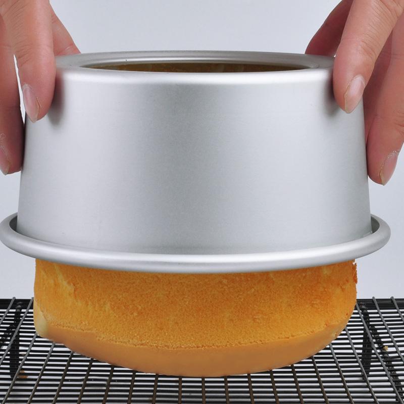戚风蛋糕模具4/6/8/10寸活底阳极不粘做慕斯烘焙材料工具烤箱家用