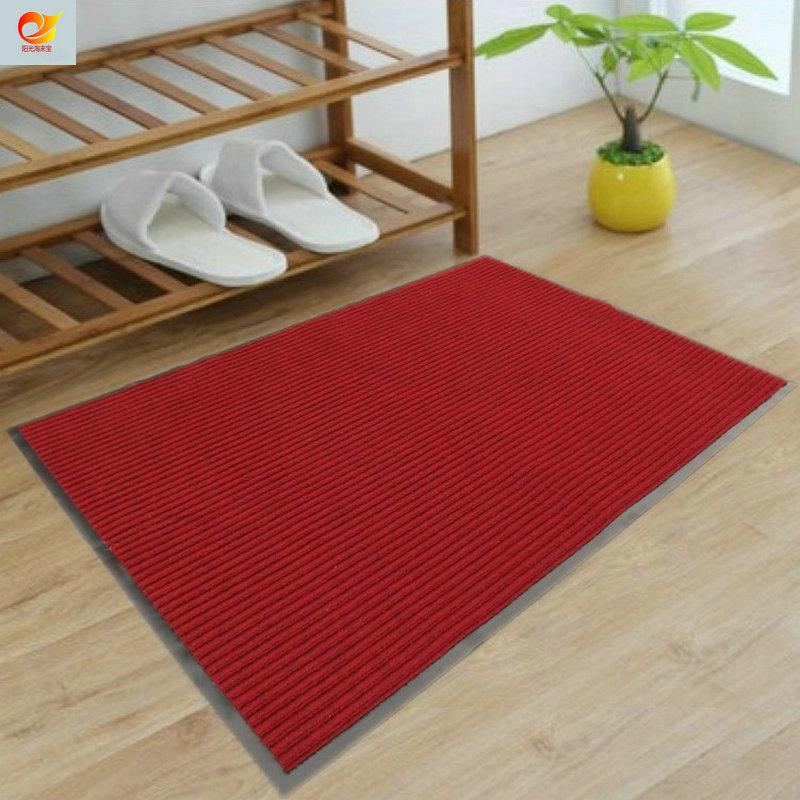 吸水門墊 腳踏蹭蹭墊浴室地墊防滑腳墊雙條紋地毯純色定製廚房墊