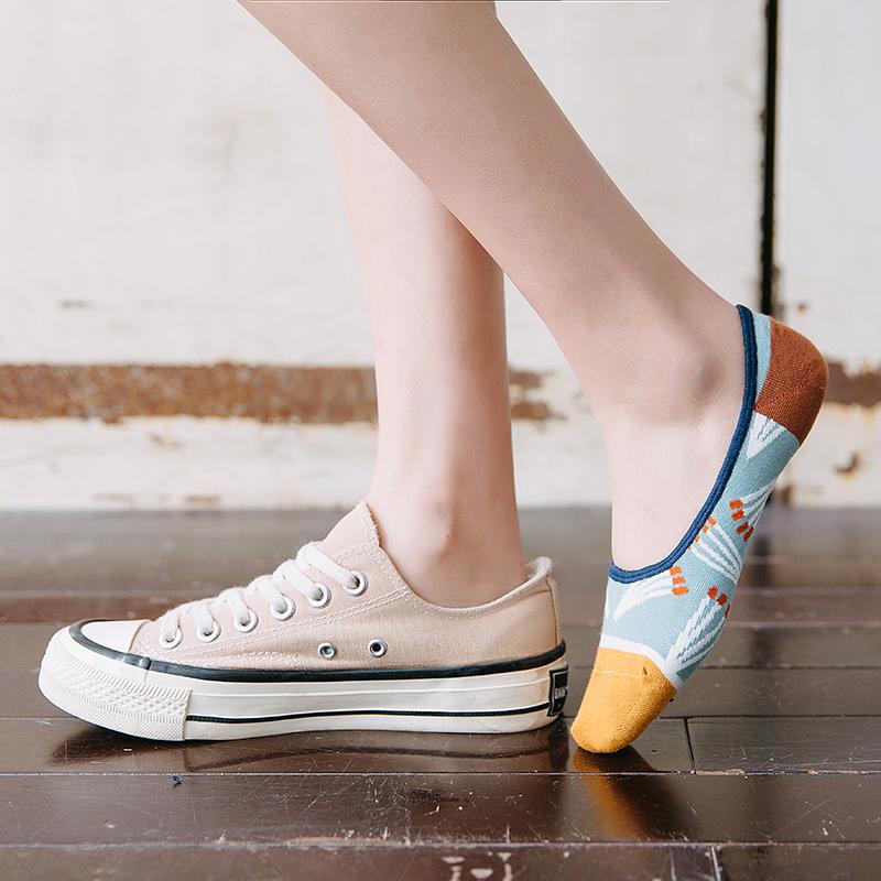 袜子女夏浅口硅胶防滑不掉跟船袜隐形ins潮春夏季纯棉短