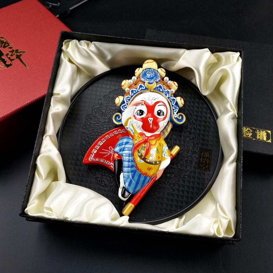 版京剧人物摆件挂件单位新年摆件年会礼品 Q 国粹京剧脸谱出国礼品