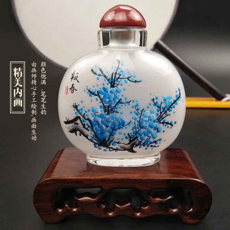 手工内画瓶鼻烟壶摆件中国风特色工艺品出国商务礼品送老外纪念品