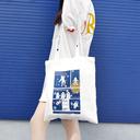 原创插画系列帆布袋单肩拉链两用女日韩百搭文艺帆布包购物袋ins - 3