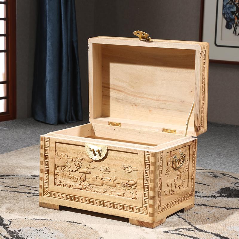 全香樟木箱子实木小号复古储物字画收藏收纳婚嫁箱结婚陪嫁妆箱子