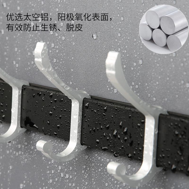 浴室挂钩卫生间强力粘胶钩免钉铝排钩吸壁式挂衣架门后衣帽钩粘钩