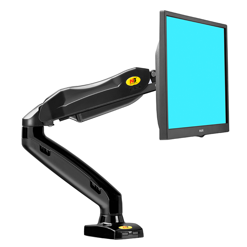 NB 电脑显示器支架桌面台式升降伸缩万向 显示屏幕底座无孔增高架