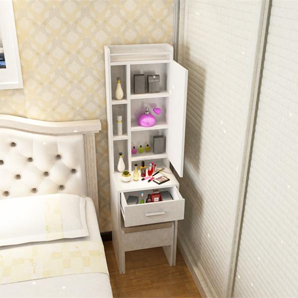 迷你梳妆台 简约储物梳妆柜 超小户型化妆桌 正品家具 可定制
