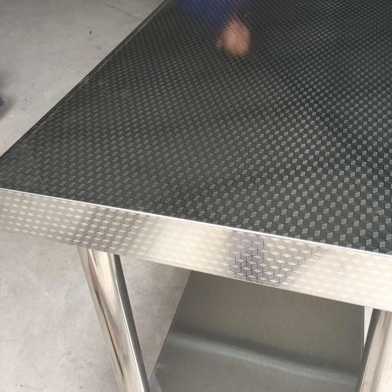 商悦加厚不锈钢打荷台不锈钢工作台双层工作台操作台厨房工作台