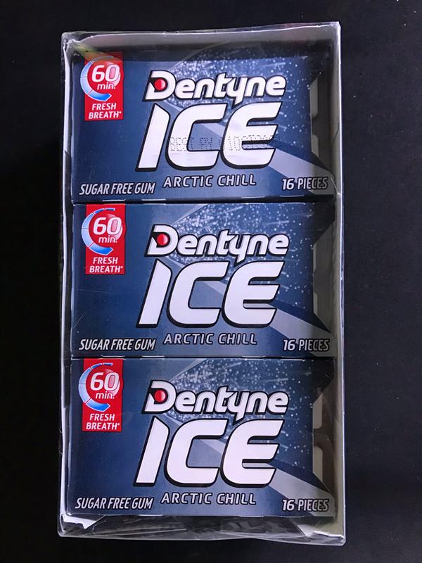 【何炅推荐 提神】美国原装Dentyne ice 木糖醇口香糖极地冰凉