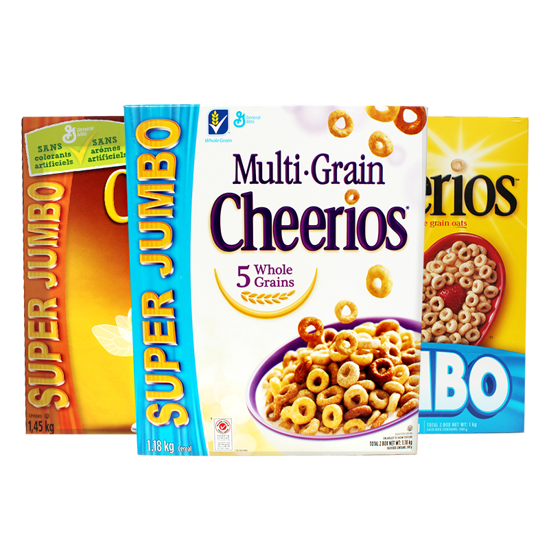 美国进口晶磨Cheerios免煮即食麦圈蜂蜜味原味五谷味冲饮麦片早餐