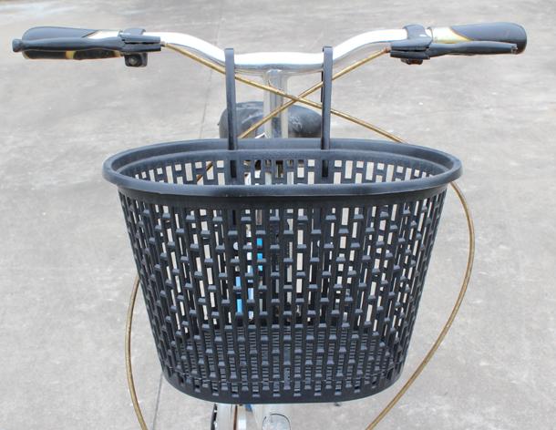 免安裝自行車小號車籃 塑料車籃小型車筐 摺疊車前車筐 掛籃 車簍