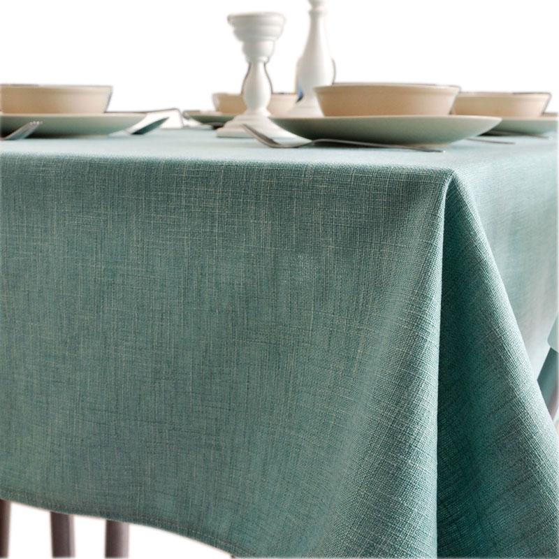 简约现代文艺北欧加厚纯色棉麻台布茶几餐桌布布艺亚麻小清新桌垫