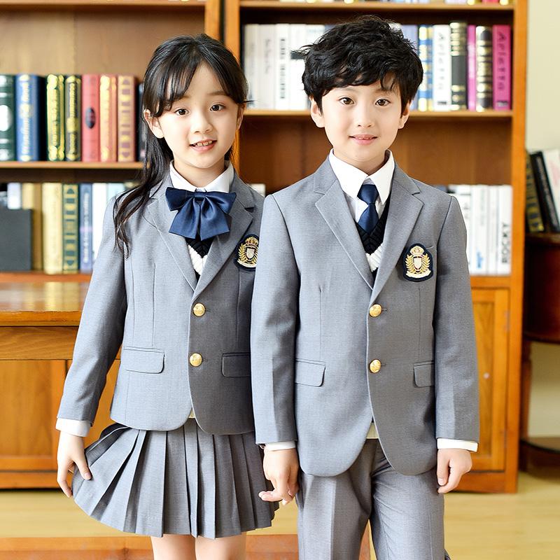 西装校服幼儿园园服儿童春秋冬季英伦学院风一年级小学生班服套装