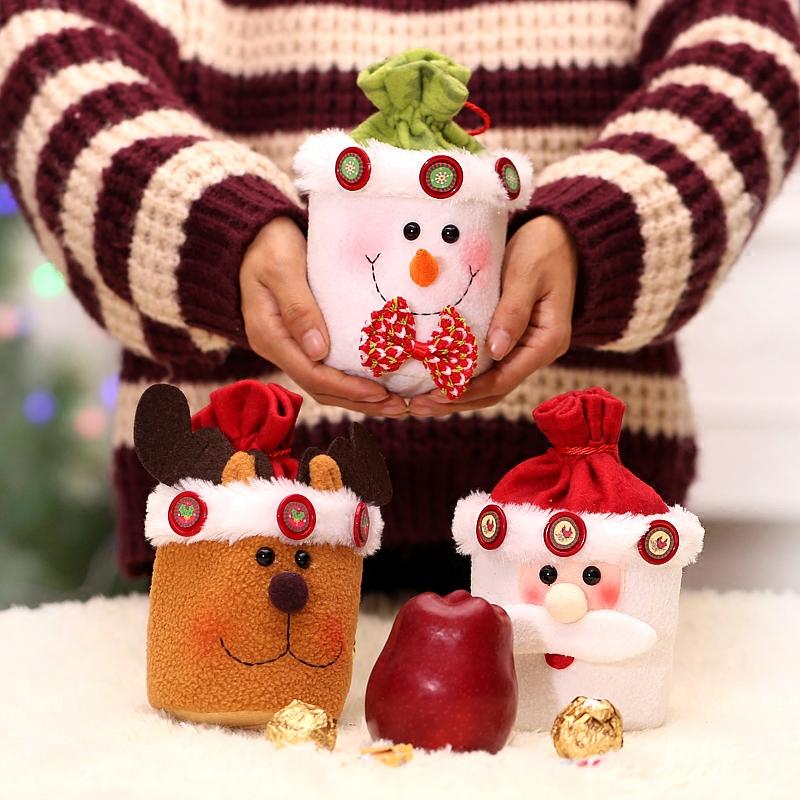 创意高档平安夜苹果盒个性儿童礼物圣诞节礼品袋雪人平安果包装盒