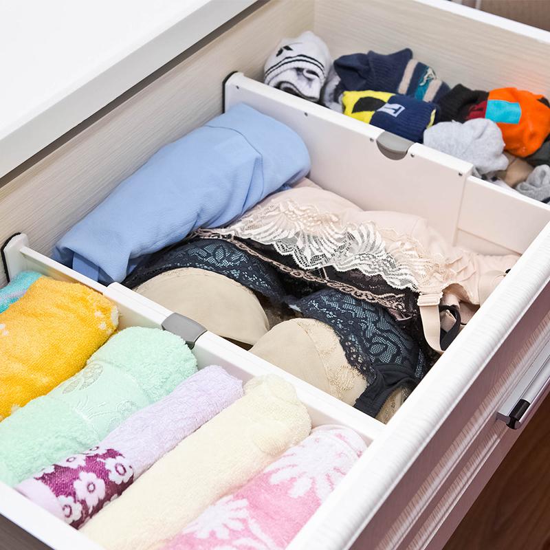 抽屜收納分隔板塑料分割隔斷衣櫃抽屜分格diy自由組合整理隔層擋