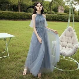 伴娘服长款2020新款夏季仙气连衣裙显瘦伴娘晚礼服女合唱团演出服