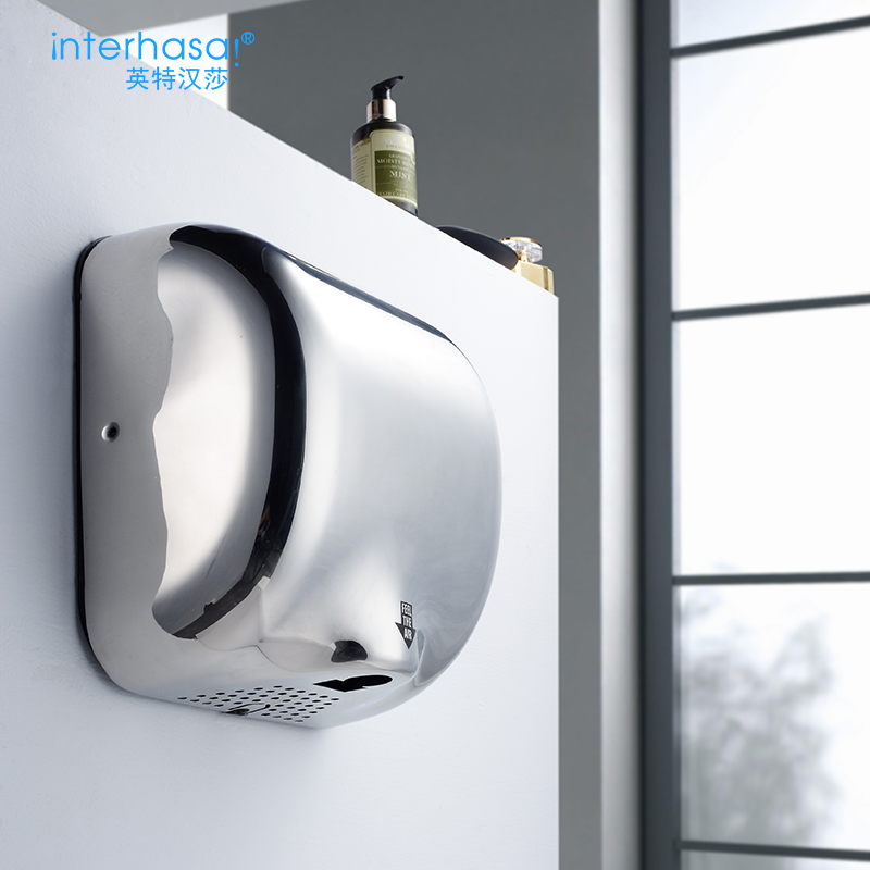 英特汉莎干手器烘手器烘手机全自动感应卫生间干手机吹手烘干机