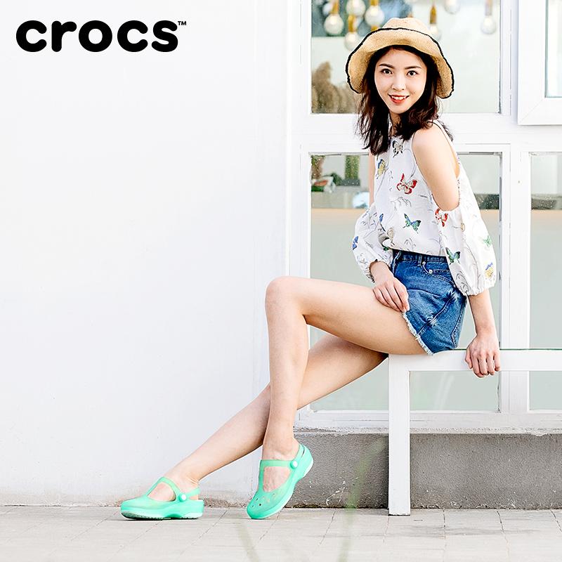 Crocs女鞋 卡骆驰沙滩平底凉鞋外穿防滑拖鞋软底包头休闲鞋|11209