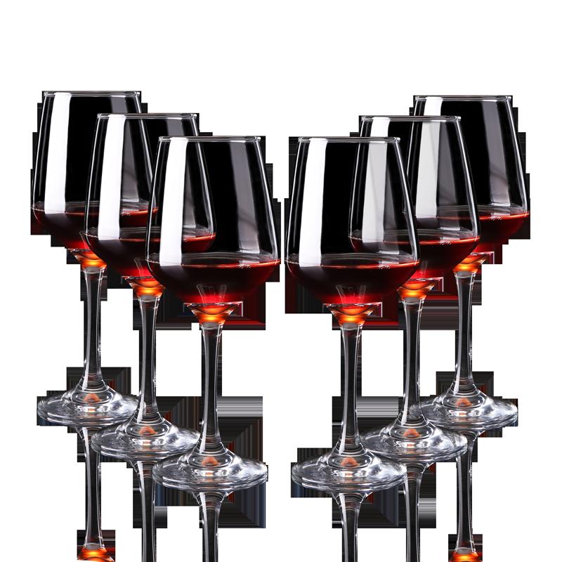 欧式透明 无铅红酒杯 玻璃香槟杯 高脚杯 葡萄酒杯 家用 酒具套装