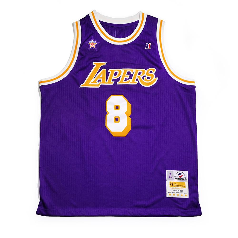 复古品质送手环 致敬科比湖人美式球衣篮球运动背心  Masterape nba