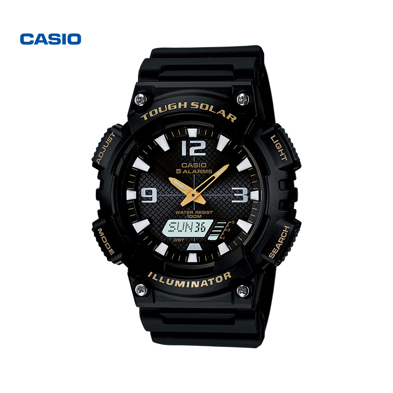 casio旗舰店AQ-S810运动防水手表运动男表卡西欧官网小黑表正品