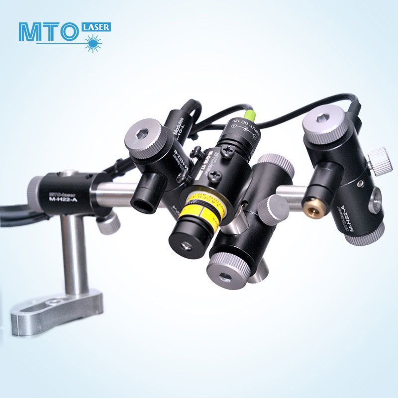 MTO万向光学支架diy激光器 压板固定孔固定座配件组装