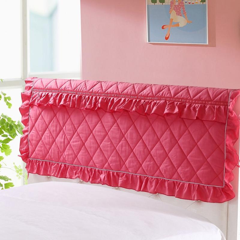 栋轩床头罩床头套可定做全棉加厚皮床欧式软包布艺床靠背保护罩