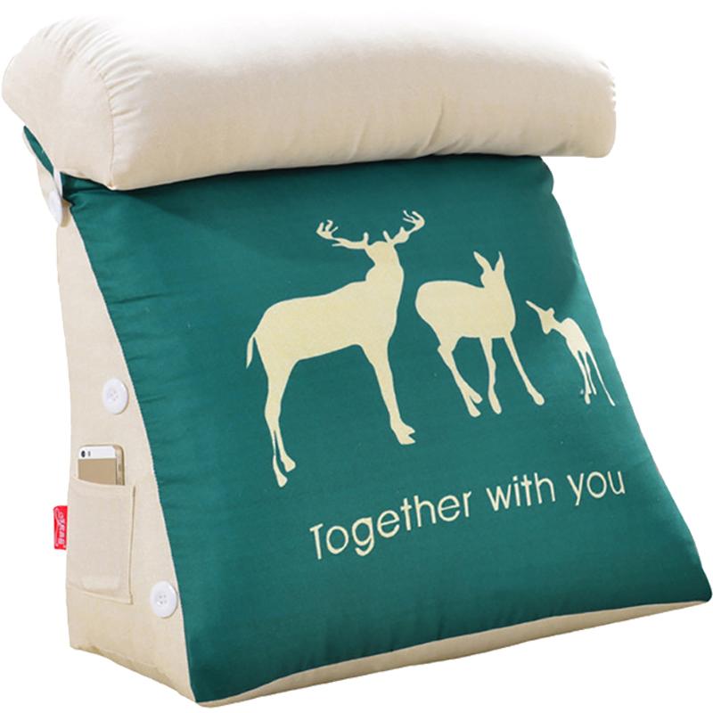 卡通护腰床头靠垫软包床上靠枕大靠背垫办公室腰枕沙发靠垫抱枕