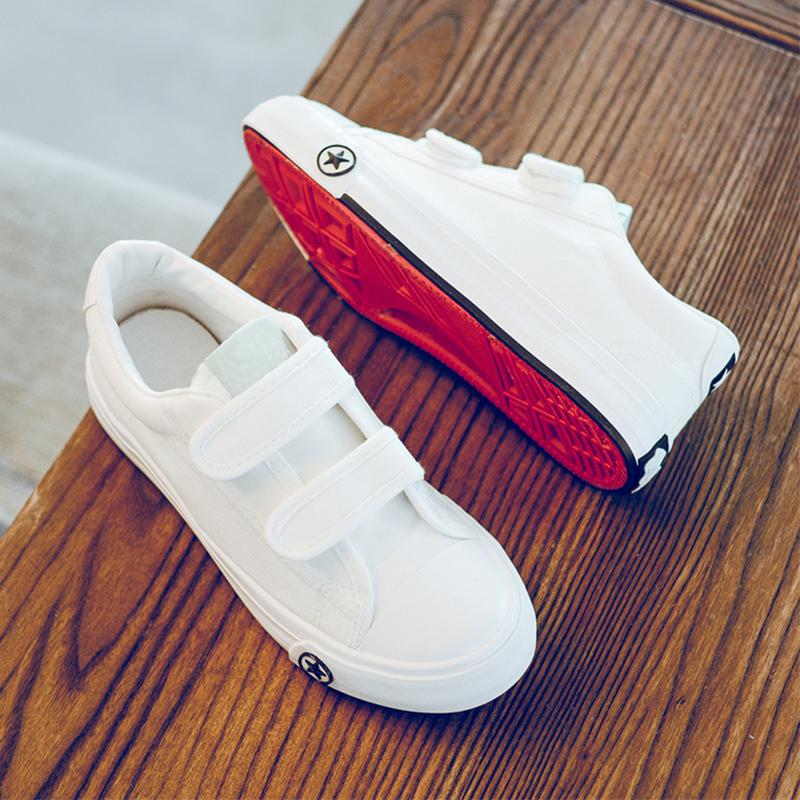 儿童回帆布鞋女童布鞋中小男童白球鞋宝宝板鞋学生单鞋力软底