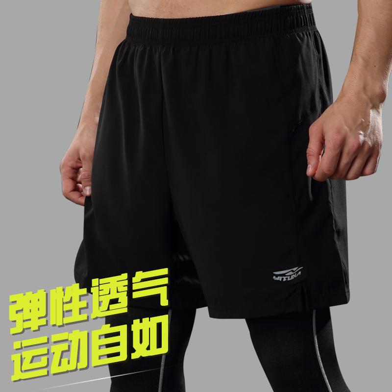 运动短裤男夏季薄款透气健身房训练五分裤男士休闲速干跑步短裤子