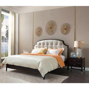 卫诗理美式真皮双人床1.5卧室大床轻奢现代简约实木床1.8米婚床BL