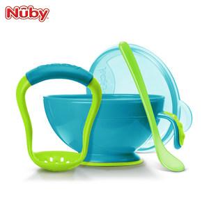 美国Nuby宝宝研磨碗勺婴儿实物捣碎辅食工具研磨器果泥料理套装