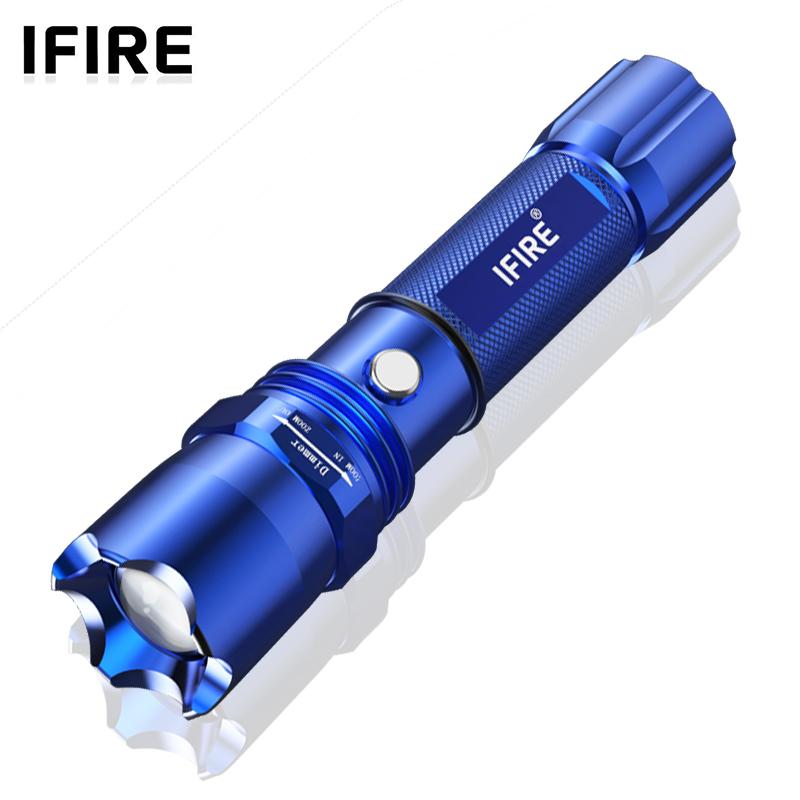手电筒强光可充电超亮5000小迷你多功能氙气灯 远射户外便携 家用